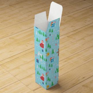 Merry Christmas wine gift box