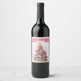 Merry Christmas wine label. Wine Label