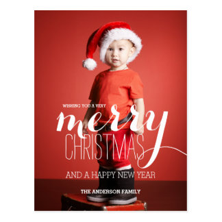 Merry Christmas Wishes | Holiday Postcard