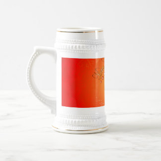 Merry Christmas with elegant gold, red background Beer Steins