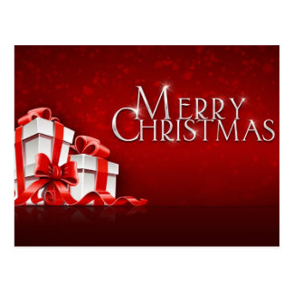 Merry Christmas with Gifts Postcard