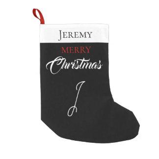 Merry Christmas with Kid's Monogram - Small Christmas Stocking