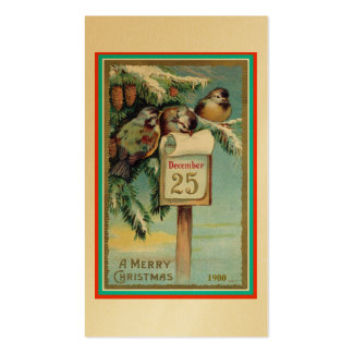 Merry Christmas with Little Birds Pack Of Standard Business Cards