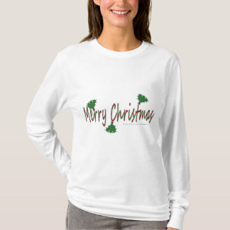 Merry Christmas with Mistletoe Woman's Hoodie