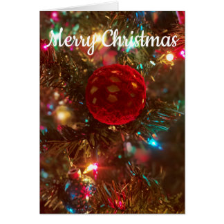 Merry Christmas With Ornament Card