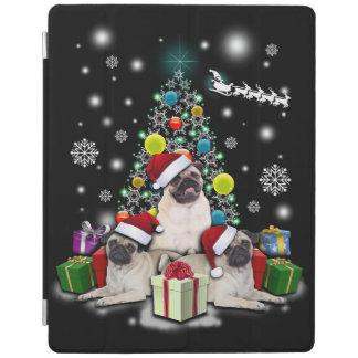 Merry Christmas with Pug Dog Animal iPad Cover