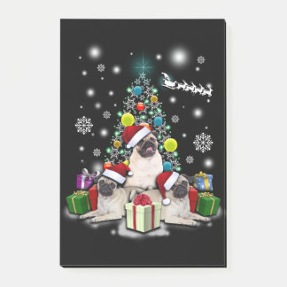 Merry Christmas with Pug Dog Animal Post-it Notes