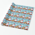 Merry Christmas with Santa and Deer Wrapping Paper