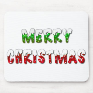 Merry Christmas With Snow Mouse Pad