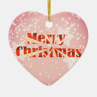 Merry Christmas with snowflakes and stars ornament