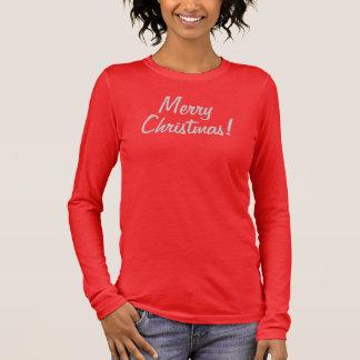 MERRY CHRISTMAS! WOMEN'S BELLA 3/4 SLEEVE V-NECK LONG SLEEVE T-Shirt