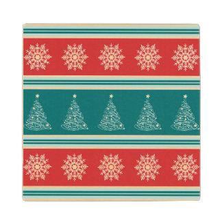 Merry Christmas Wood Coaster