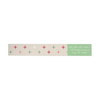 Merry Christmas Wraparound Return Address Label