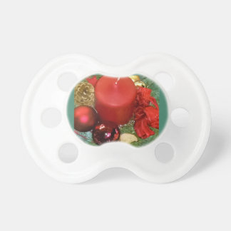Merry Christmas Wreath Baby Pacifiers