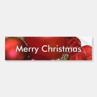Merry Christmas Wreath Bumper Sticker