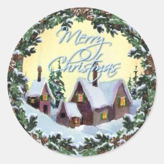 MERRY CHRISTMAS WREATH by SHARON SHARPE Sticker