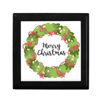 MERRY CHRISTMAS WREATH, Cute Gift Box