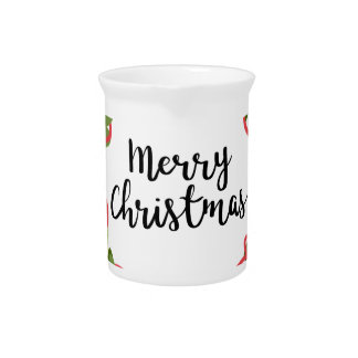 MERRY CHRISTMAS WREATH, Cute Pitcher