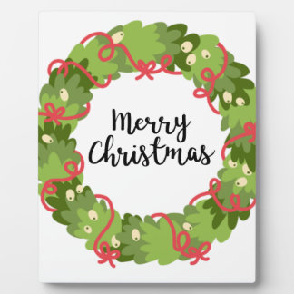 MERRY CHRISTMAS WREATH, Cute Plaque