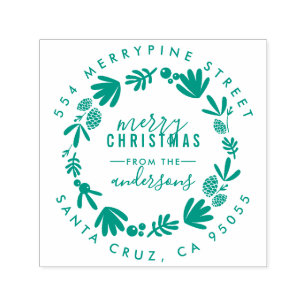 Christmas Rubber Stamps - Self-Inking Stamps   Zazzle AU