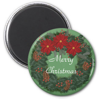 Merry Christmas Wreath Magnet