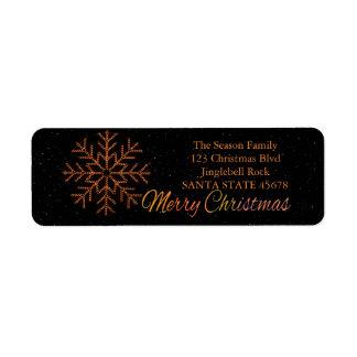 Merry Christmas x-mas Crystal Light Return Address Label