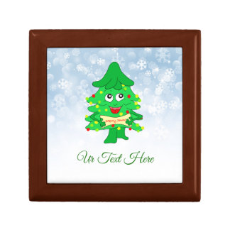 Merry Christmas Xmas Tree Gift Box