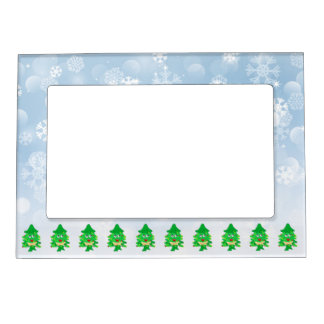 Merry Christmas Xmas Tree Magnetic Frame