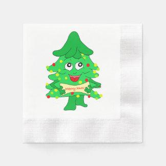merry Christmas Xmas Tree Paper Serviettes