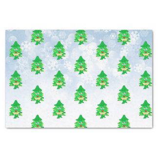 Merry Christmas Xmas Tree Tissue Paper