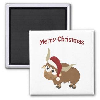 Merry Christmas Yak Fridge Magnets