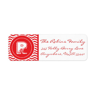 Merry Christmas Y'all! Adress Monogrammed Labels