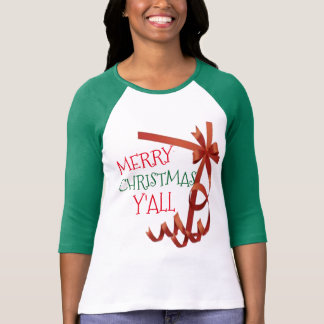 merry christmas y'all gift wrapper shirt design