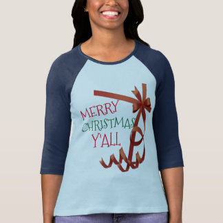 merry christmas y'all gift wrapper tshirt design