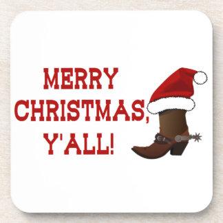 Merry Christmas Y'all - Santa Boot Coasters