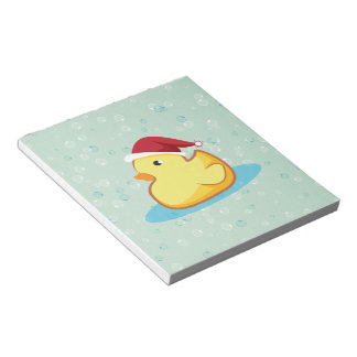 Merry Christmas yellow rubber duckie notepad