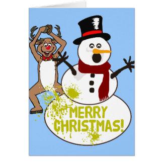 Merry Christmas Yellow Snow Card