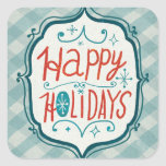 Merry Christmastime Holidays Square Stickers
