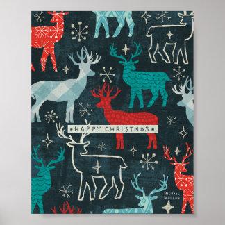 Merry Christmastime Reindeer Poster