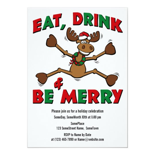 Merry Christmoose Party Invitation
