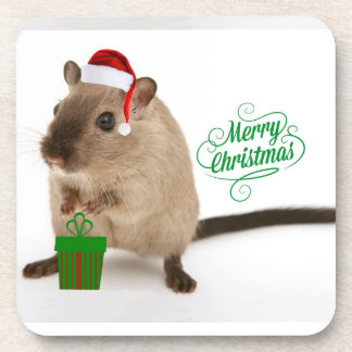 Merry Christmouse Beverage Coaster
