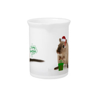 Merry Christmouse Beverage Pitcher