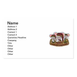 Merry Christmouse Business Card Template