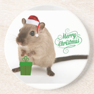 Merry Christmouse Coaster