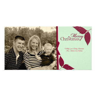 Merry Chrsitmas Ribbon Picture Card