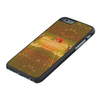 Merry chrstimas carved® maple iPhone 6 case