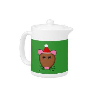 Merry Cjristmas Mouse Teapot