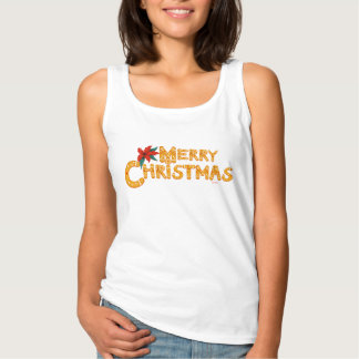 MERRY COOKIE CHRISTMAS CARTOON Women's Basic Tank
