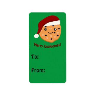 Merry Cookiemas Christmas cookie Address Label