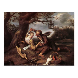 Merry Couple by Jan Steen Postcard